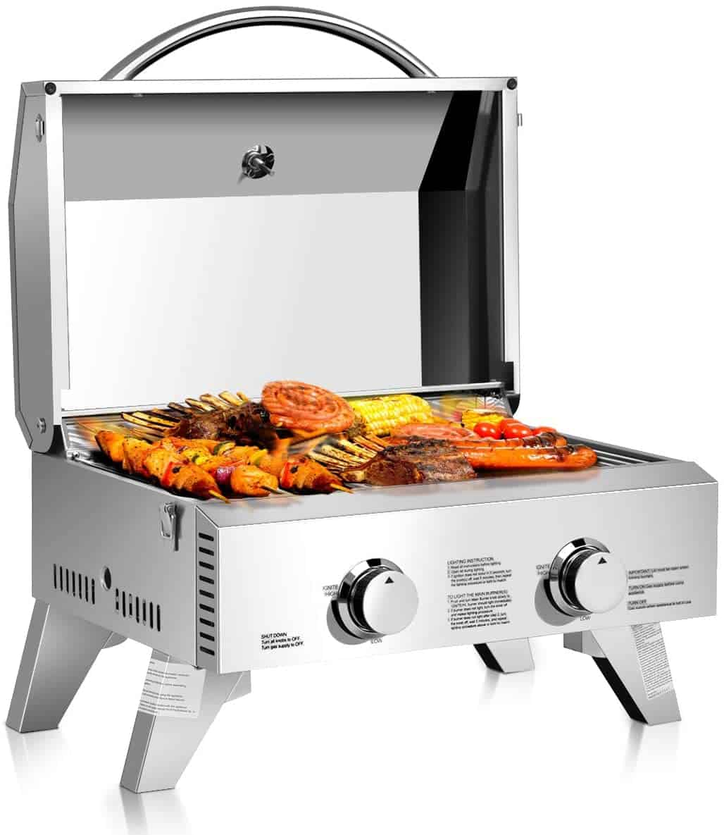 Giantex Propane Tabletop Two Burner Gas Grill