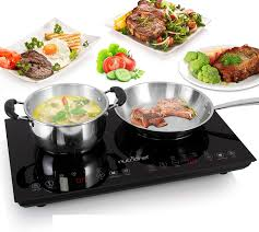 Double Induction Cooktop Portable 120V Portable Digital Ceramic Dual Burner