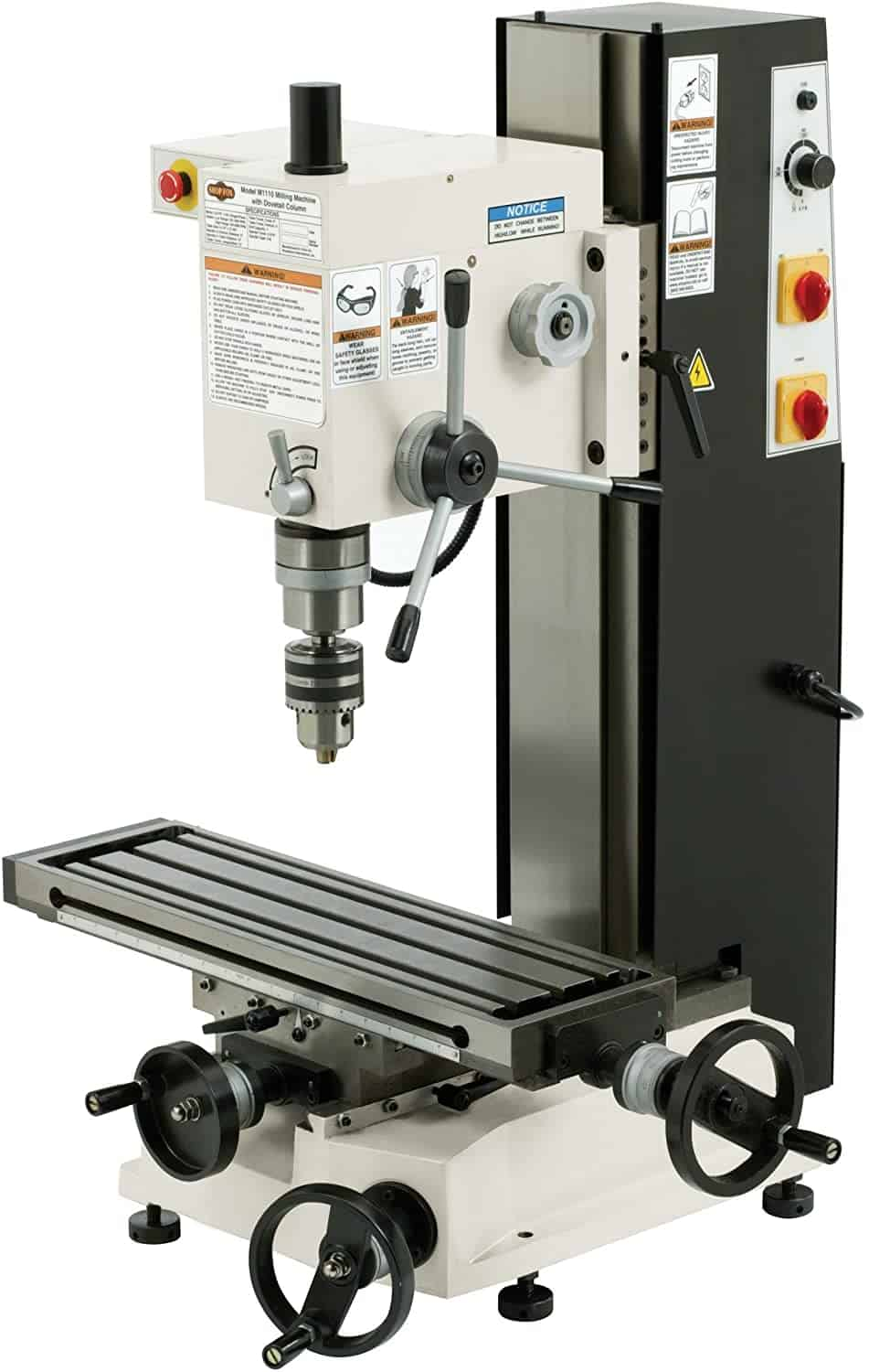 SHOP FOX M1110 6 Inch by 21 Inch Variable Speed Mill and Drill