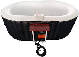 ALEKO Oval Inflatable Hot Tub Spa