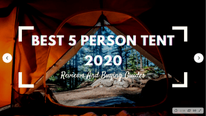 Best 5 Person Tent 2020