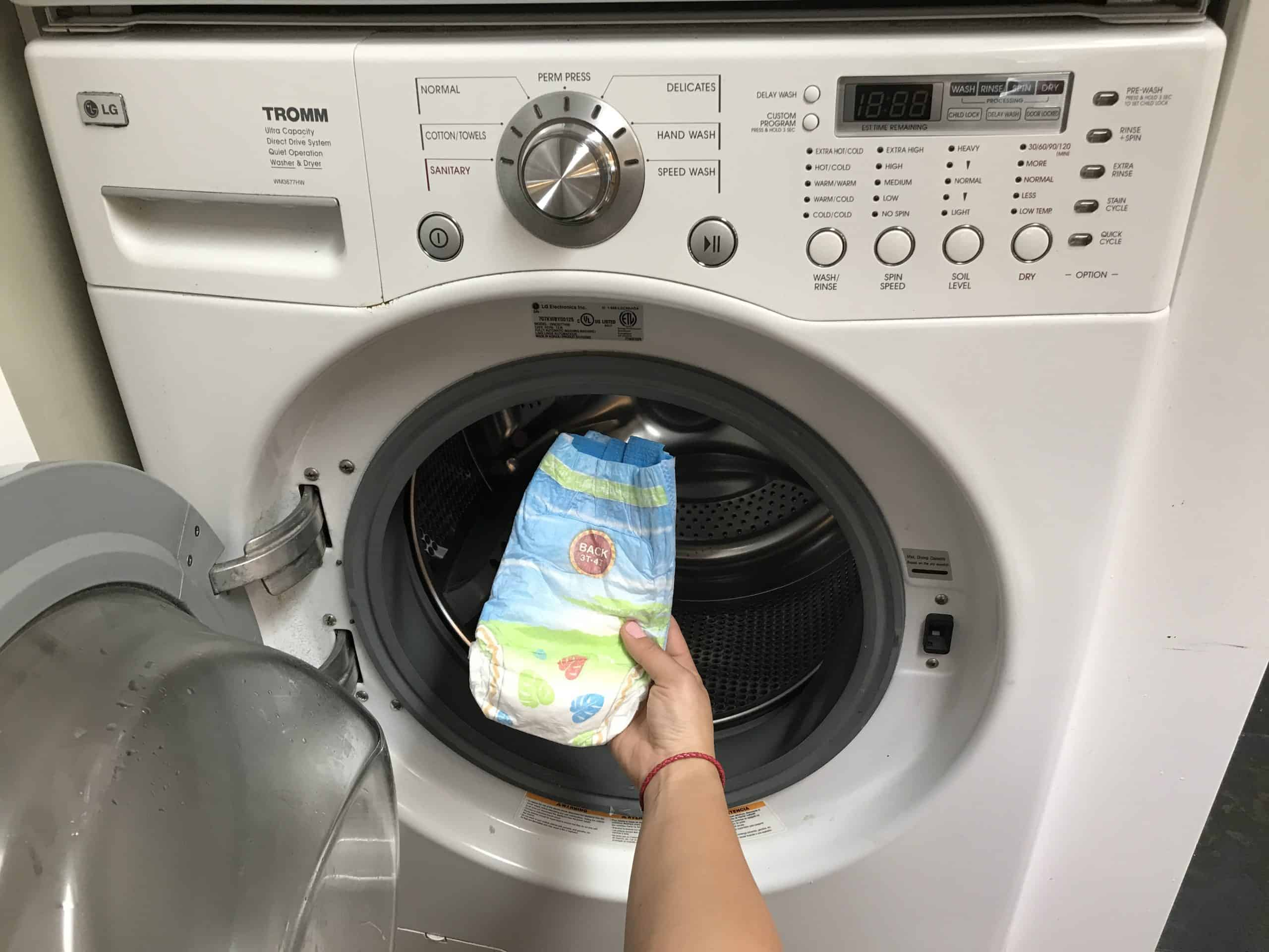 best washing machine for cloth diapers-