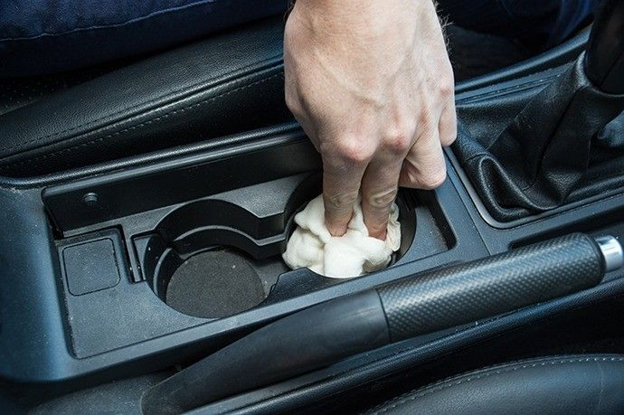 how to clean car cup holders