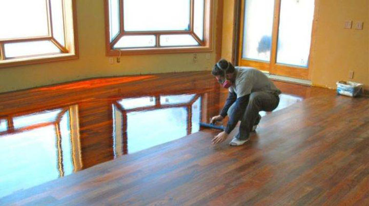 how to clean an unfinished wood floor