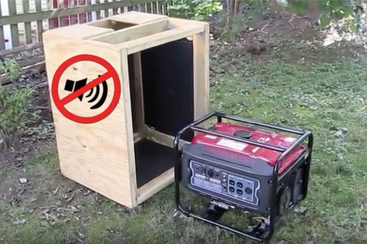 how to build a soundproof generator box