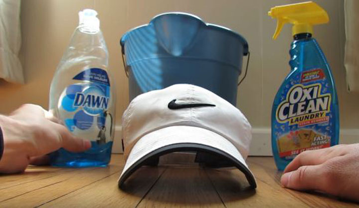 how to wash white hats